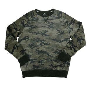 George Camo Print Sweatshirt Crew Neck Green XL
